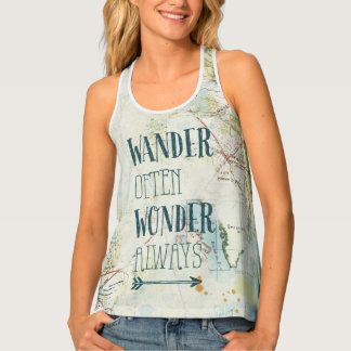 Map Sentiments Tank Top