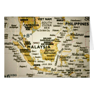 Map showing Malaysia Card
