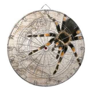 map spider dartboard with darts