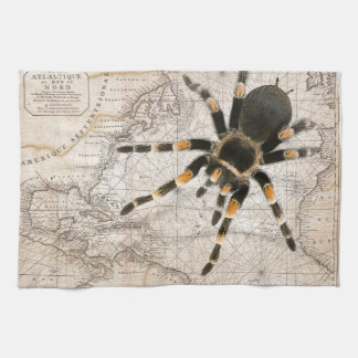 map spider kitchen towel