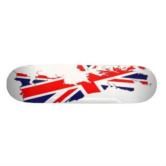 Map UK  Flag Skate Board
