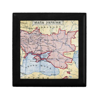 MAP: UKRAINE, c1906 Jewelry Boxes