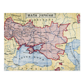 MAP: UKRAINE, c1906 Postcard