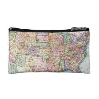 Map: United States, 1905 Cosmetic Bag