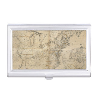 MAP: USA, 1783 BUSINESS CARD HOLDER