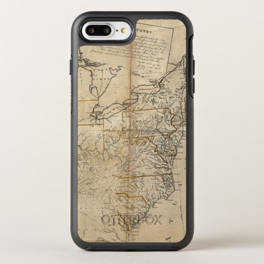 MAP: USA, 1783 OtterBox SYMMETRY iPhone 7 PLUS CASE
