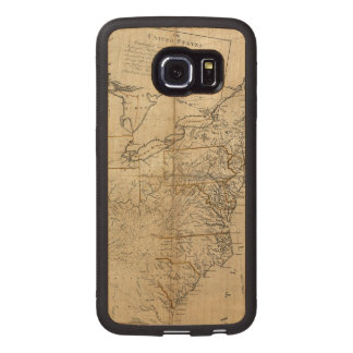 MAP: USA, 1783 WOOD PHONE CASE