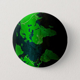 Map World Digital Earth Geography Green Shine Styl 2 Inch Round Button