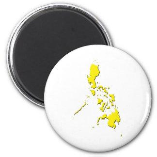 Map Yellow Fridge Magnet