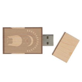 Maple, 8gb, Rectangle ARROW HEADDRESS Wood USB 3.0 Flash Drive