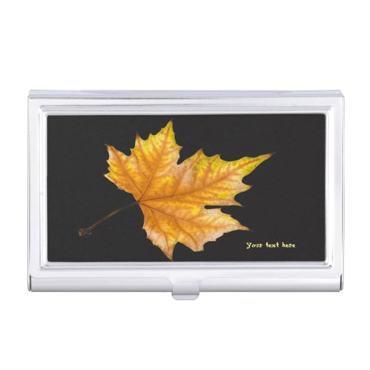 Maple Autumn Leaf Case For Business Cards
