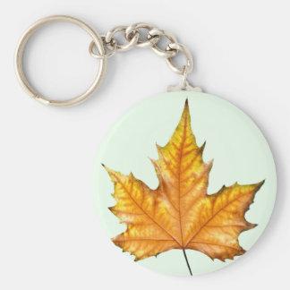 Maple autumn leaf keychain