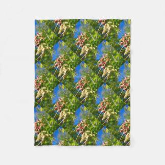 Maple Buds Fleece Blanket