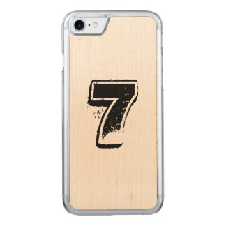 maple jersey carved iPhone 7 case