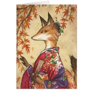 Maple Kitsune card