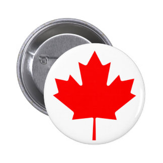 Maple Leaf 2 Inch Round Button