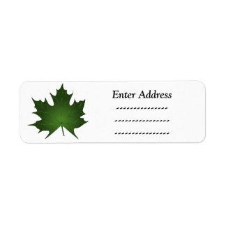 Maple leaf address label Sticker