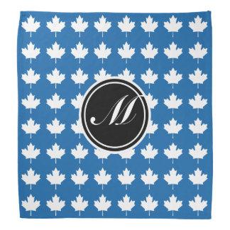 Maple Leaf and Monogram Dazzling Blue Bandana