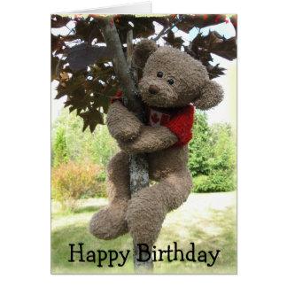 Maple Leaf Bear, Happy Birthday Card