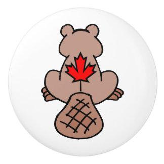Maple Leaf Beaver Drawer Pull