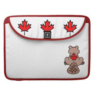 Maple Leaf Beaver Sleeves For MacBook Pro