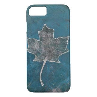 Maple Leaf Blue Monoprint Phone Case. iPhone 8/7 Case