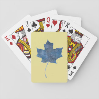 Maple Leaf Blue Monoprint  Playing Cards