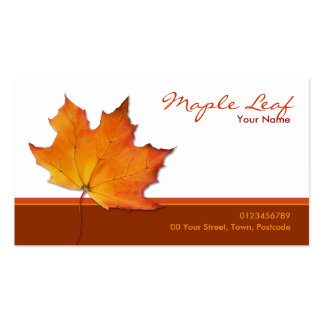 Maple leaf business cards and business card templates for Leaf business cards