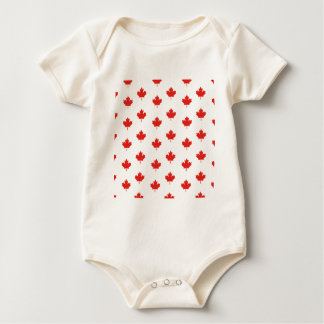 Maple Leaf Canada Emblem Country Nation Day Baby Bodysuit