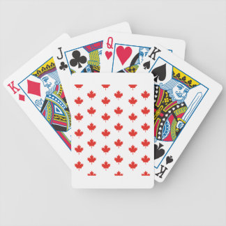 Maple Leaf Canada Emblem Country Nation Day Bicycle Playing Cards