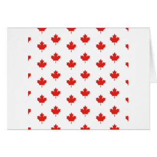 Maple Leaf Canada Emblem Country Nation Day Card