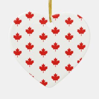 Maple Leaf Canada Emblem Country Nation Day Ceramic Ornament
