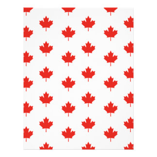 Maple Leaf Canada Emblem Country Nation Day Letterhead