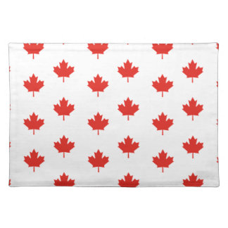Maple Leaf Canada Emblem Country Nation Day Placemat