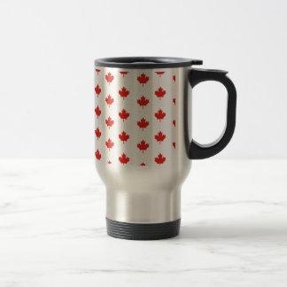 Maple Leaf Canada Emblem Country Nation Day Travel Mug