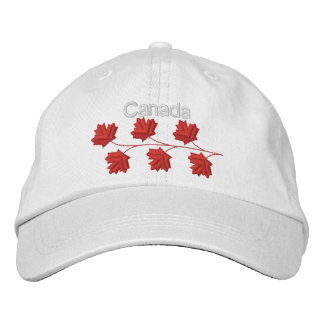 Maple Leaf Canada Embroidered Hat