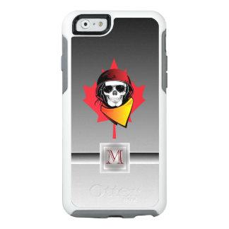 Maple Leaf Canada Rebel Army Skull Monogram OtterBox iPhone 6/6s Case