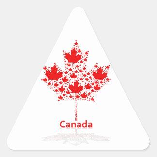 Maple Leaf Canada Triangle Sticker