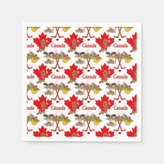Maple Leaf Canadian Disposable Napkins