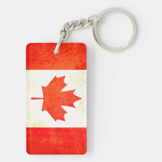 Maple Leaf Canadian flag keychain