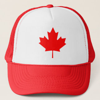 Maple Leaf Canadian Flag Trucker Hat