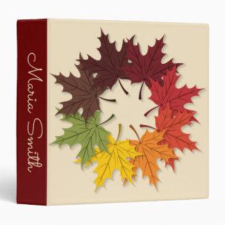 Maple leaf circle binders