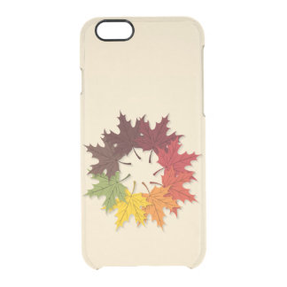 Maple leaf circle clear iPhone 6/6S case