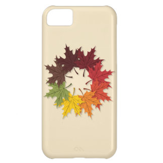 Maple leaf circle cover for iPhone 5C