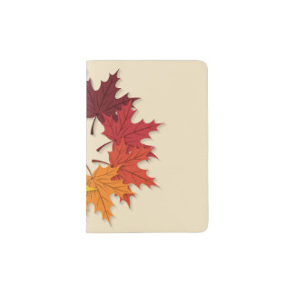 Maple leaf circle passport holder