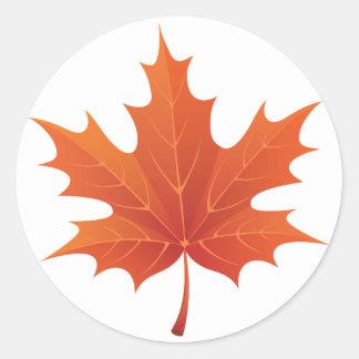 Maple Leaf Classic Round Sticker