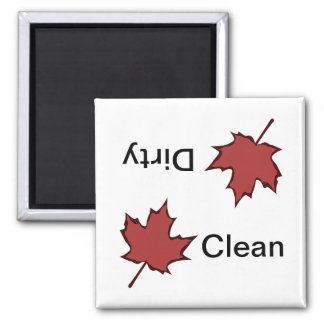Maple Leaf Clean-Dirty Dishwasher Magnet