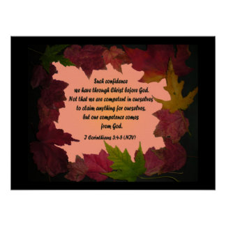 Maple Leaf Confidence From God Verse Canvas Poster
