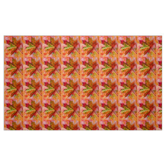 Maple Leaf design. Fabric
