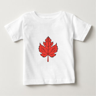 Maple Leaf Drawing Baby T-Shirt